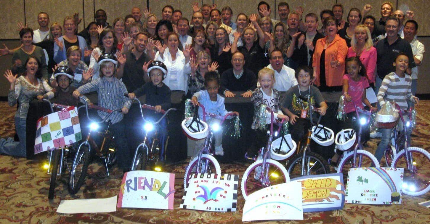 Kids Receive Bikes from Wyndham in Las Vegas