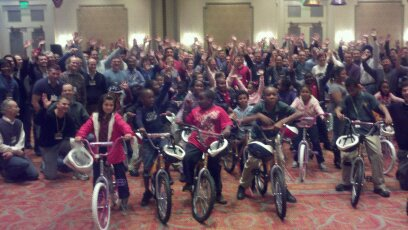 Siemens Build-A-Bike in New Orleans Supports Caring Hands Program