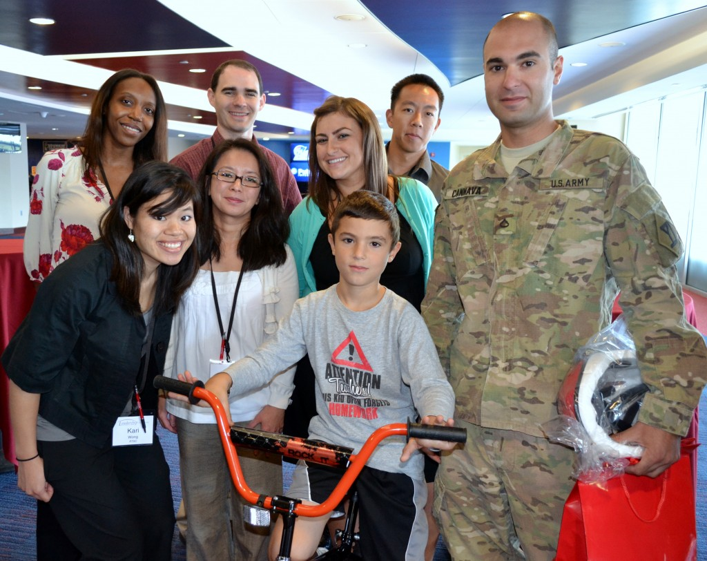 Raytheon Give Bikes to Kids of US Soldiers
