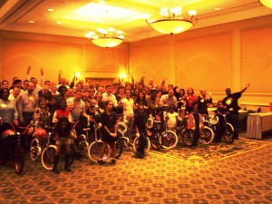 Wells Fargo Team Building Event Builds Bikes for Boys and Girls In Charlotte, North Carolina