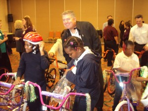 Wells Fargo Build-A-Bike Team Building Event Contributes 34 bikes To Children in San Francisco California