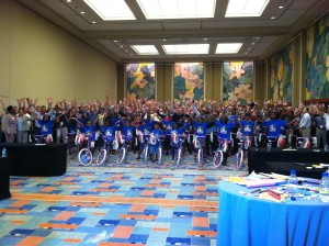 Microsoft Build-A-Bike ® team building event in Orlando, Florida adds fun to conference