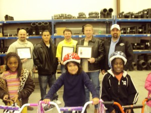 Milford Pipe and Supply Bike Donation in Midland TX