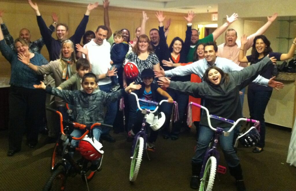 Picerne Military Housing Fun Build-A-Bike in New England