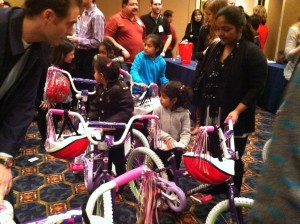 Prudential Financial makes a difference for local kids while team building in Newark, New Jersey with Build-A-Bike