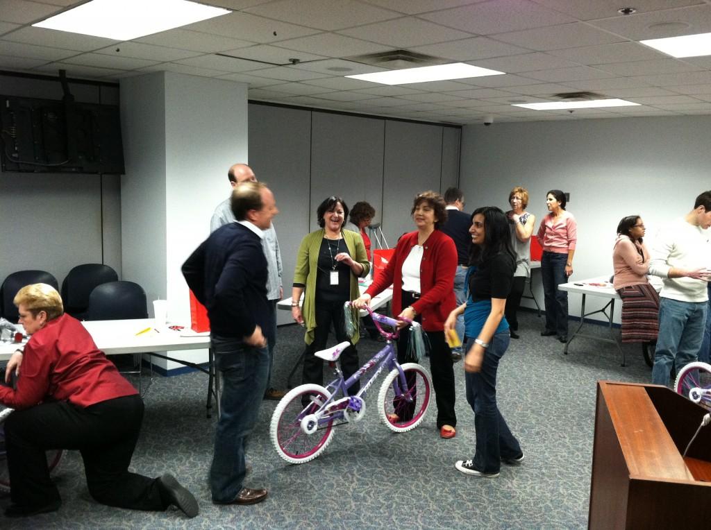 Horizon Healthcare fun bike build in Newark NJ