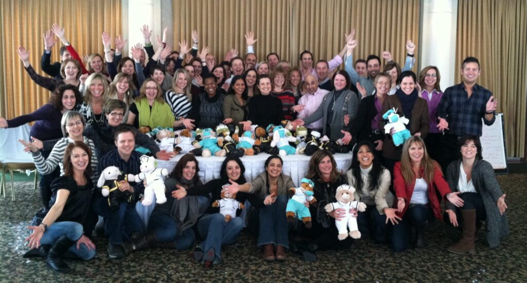 Pfizer Rescue Bear Team Event in Montreal Canada