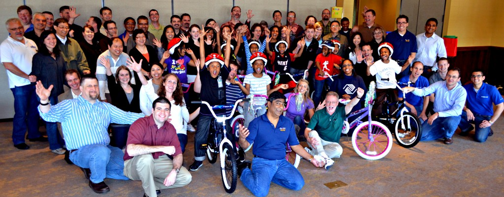 Newell Rubbermaid Build-A-Bike Event in Chicago