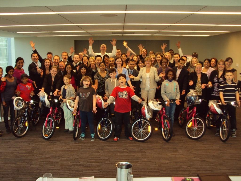 RBC Fun Build-A-Bike Event in Toronto