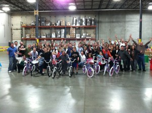 Follett Educational Services Build-A-Bike ® team building event in Chicago