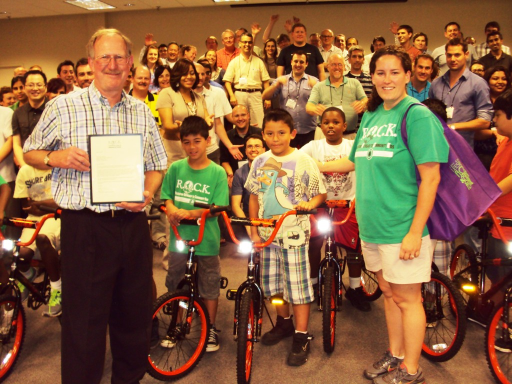 Independent Project Analysis Gives Away Bikes in Washington DC