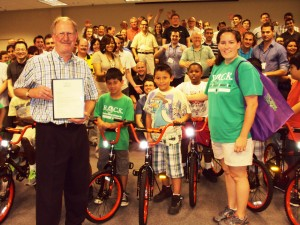Independent Project Analysis Gives Away Bikes in Lansdowne, Virginia