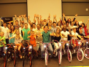 Babson College hosts Ernst and Young Build-A-Bike in Boston, Massachusetts