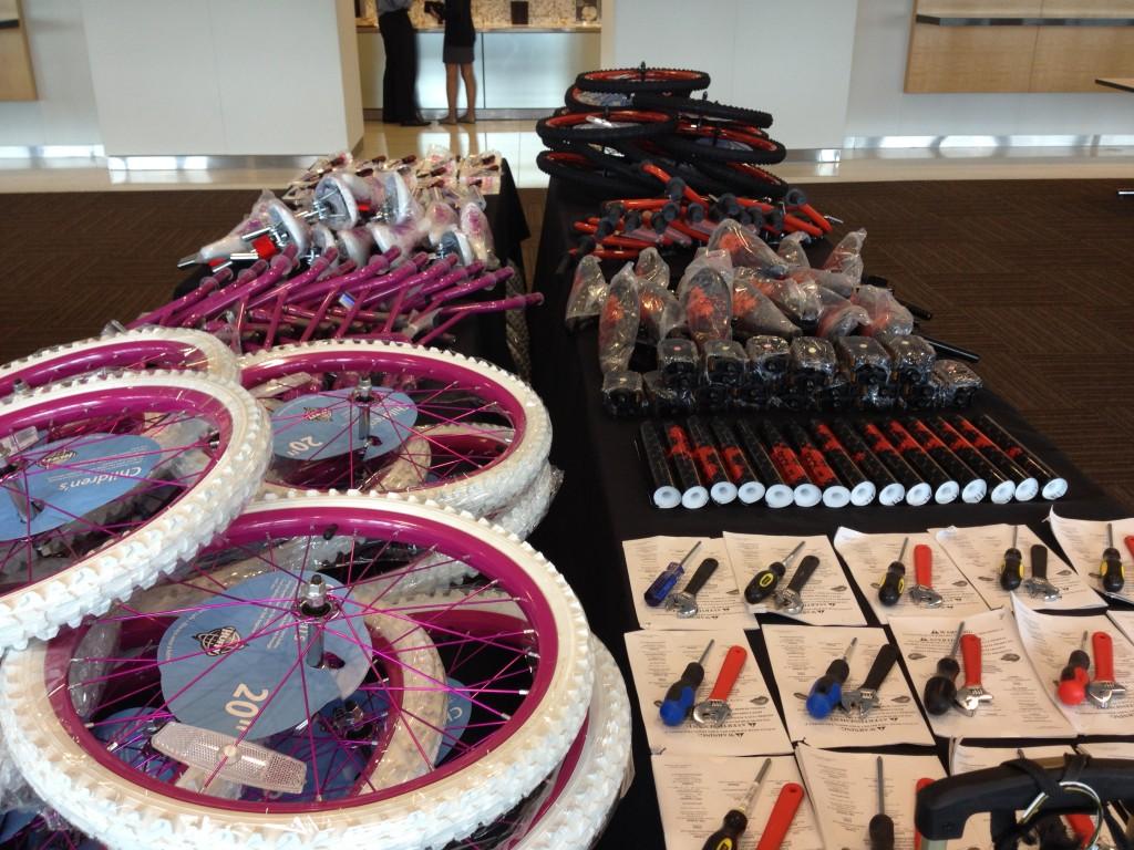 Goldman Sachs Build-A-Bike Setup New Jersey