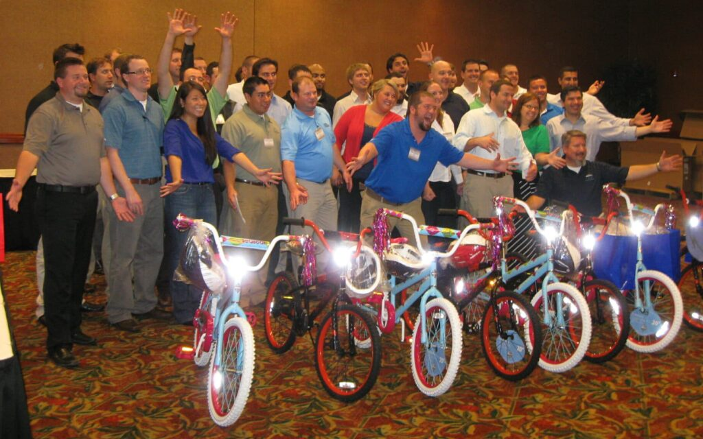 Mass Electric Build-A_Bike Team Event in Irving TX