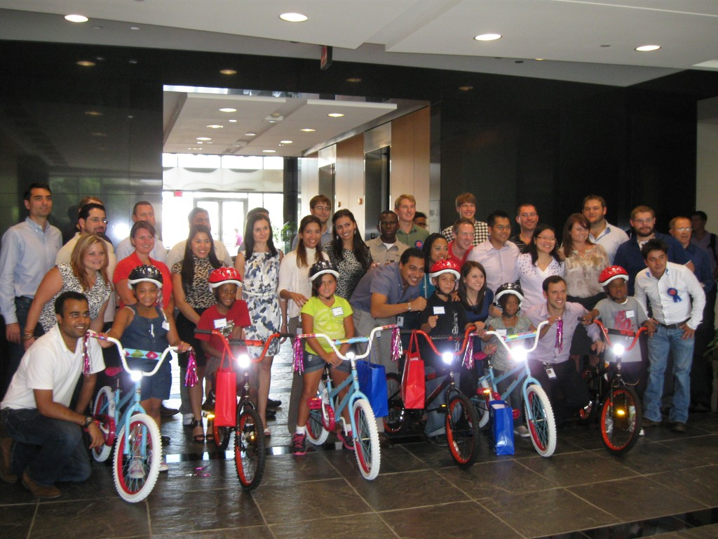 Mi Swaco Build-A-Bike team activity in Houston TX