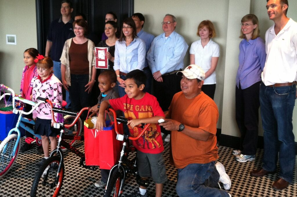 ExxonMobil small Build-A-Bike in Houston