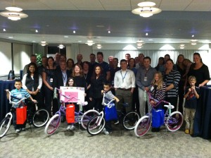 Raytheon does Another Build-A-Bike near Boston, Massachusetts