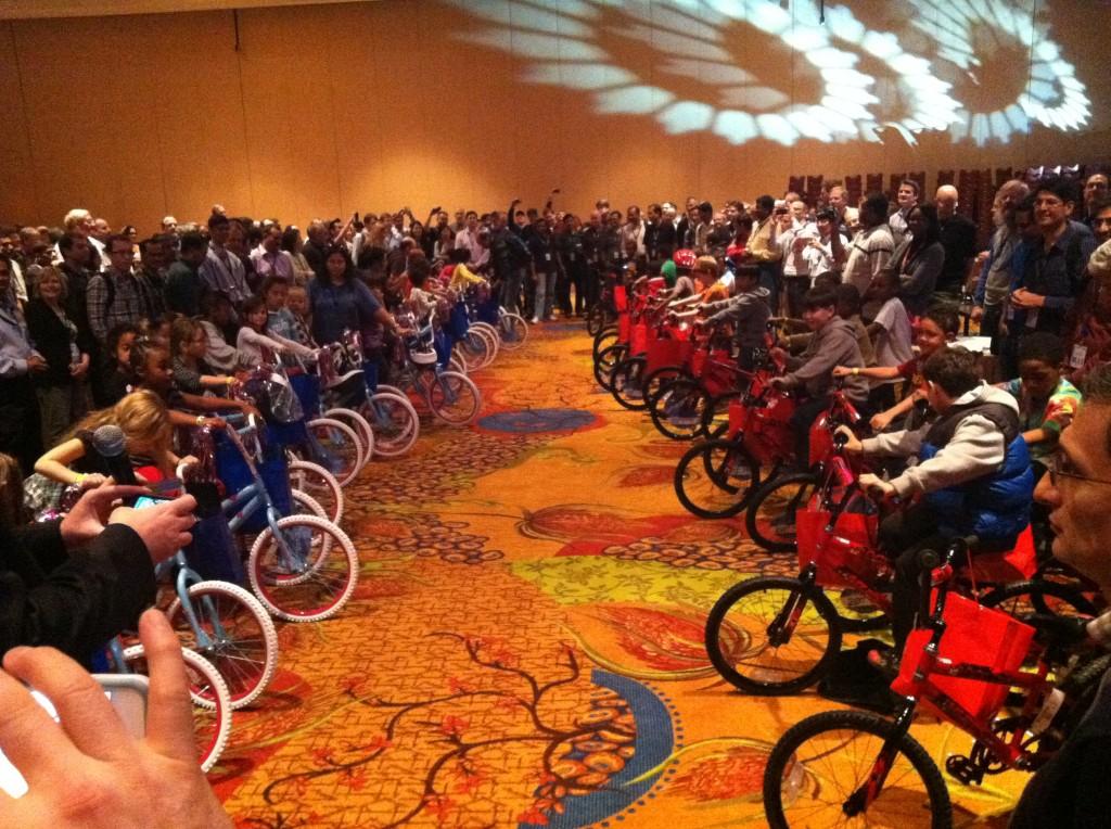 Intel Build-A-Bike team activity in San Antonio TX