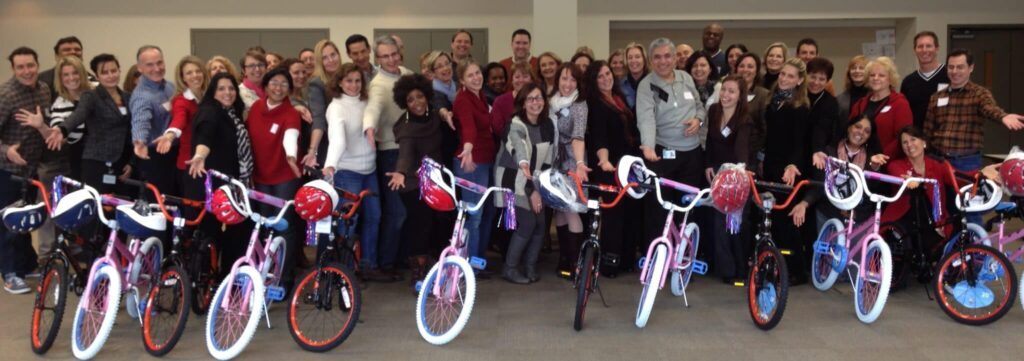 Merck Bike Building Activity in Philadelphia PA