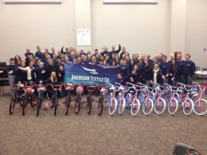 American Textile Company Hosts Build-A-Bike near Pittsburgh, Pennsylvania