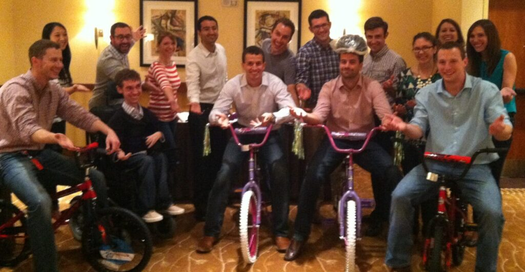 Sabre Bike Team Building in Fort Worth