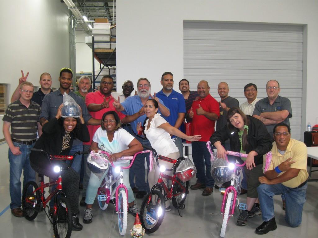 Technetics in Houston Build-A-Bike
