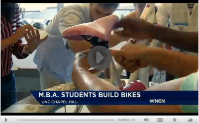 WNCN News Story about Build-A-Bike at University of North Carolina