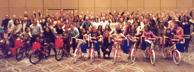 Veritext Build-A-Bike Team Building in Las Vegas, Nevada