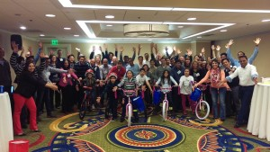 Visa Build A Bike Team Activity in San Francisco, CA