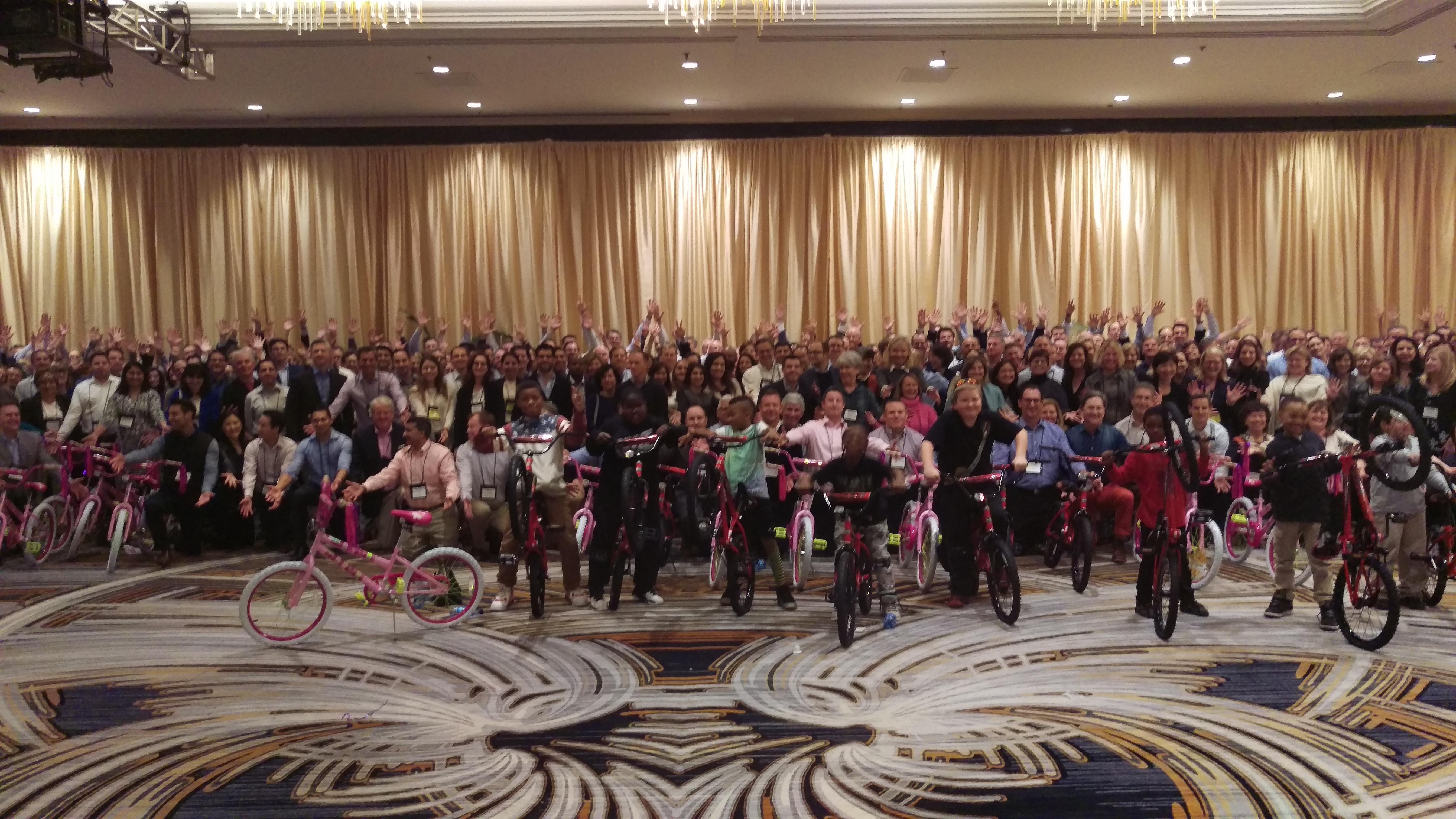 First Republic 400 Person Build-A-Bike Event in San Francisco, CA