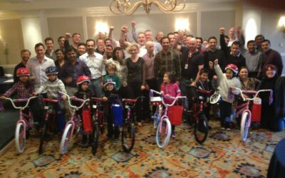 McAfee Employees Gather In Monterey, California For Build-A-Bike Event