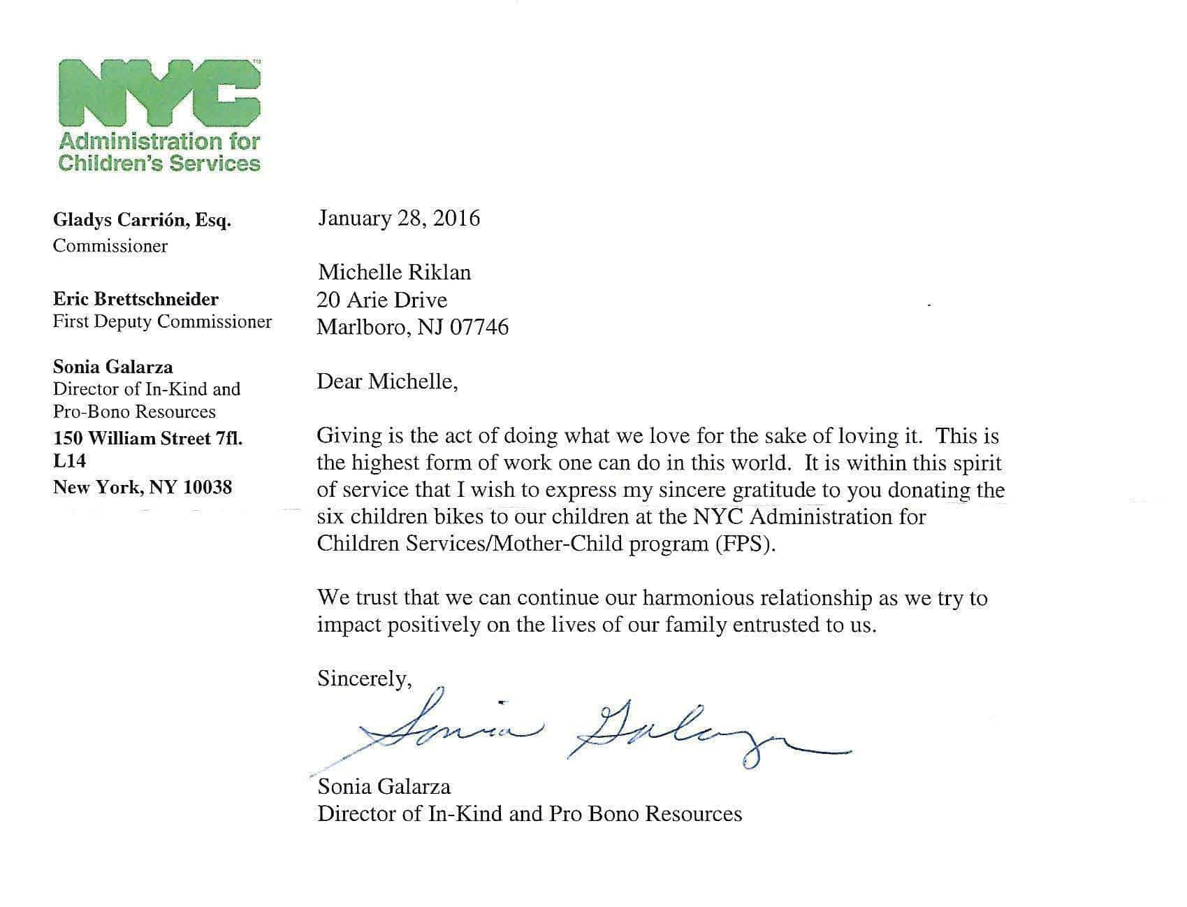 a kind note from a new york city charity kind note from a new york city charity