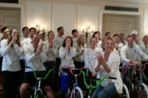 Avison Young Build-A-Bike Team Activity in Toronto Canada