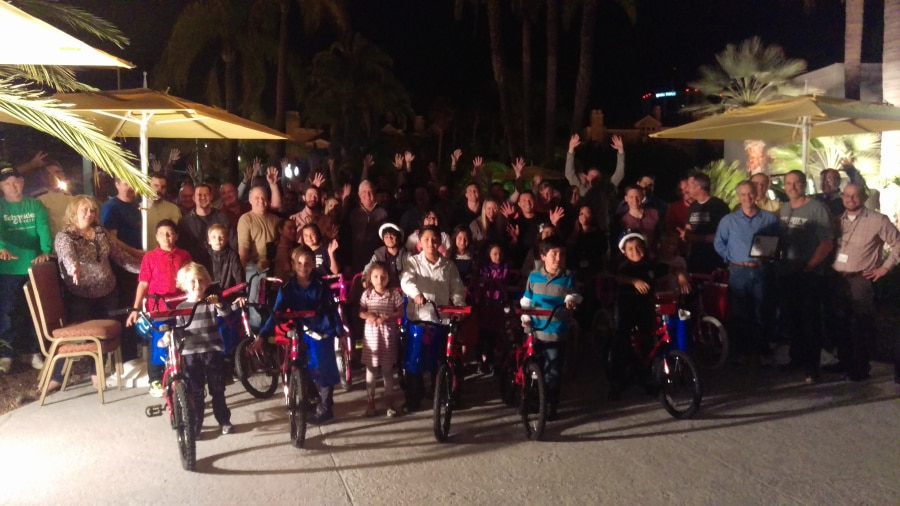 Schneider Electric Build-A-Bike Give Back in Los Angeles