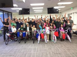 Google hosts Build-A-Bike in San Jose, California