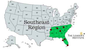 Cities in the Southeast US where we offer team building programs.