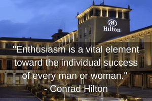 Enthusiasm is a vital element toward the individual success of every man or woman-Conrad Hilton