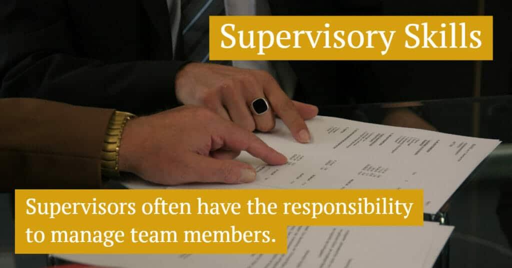 Supervisory Skill Examples