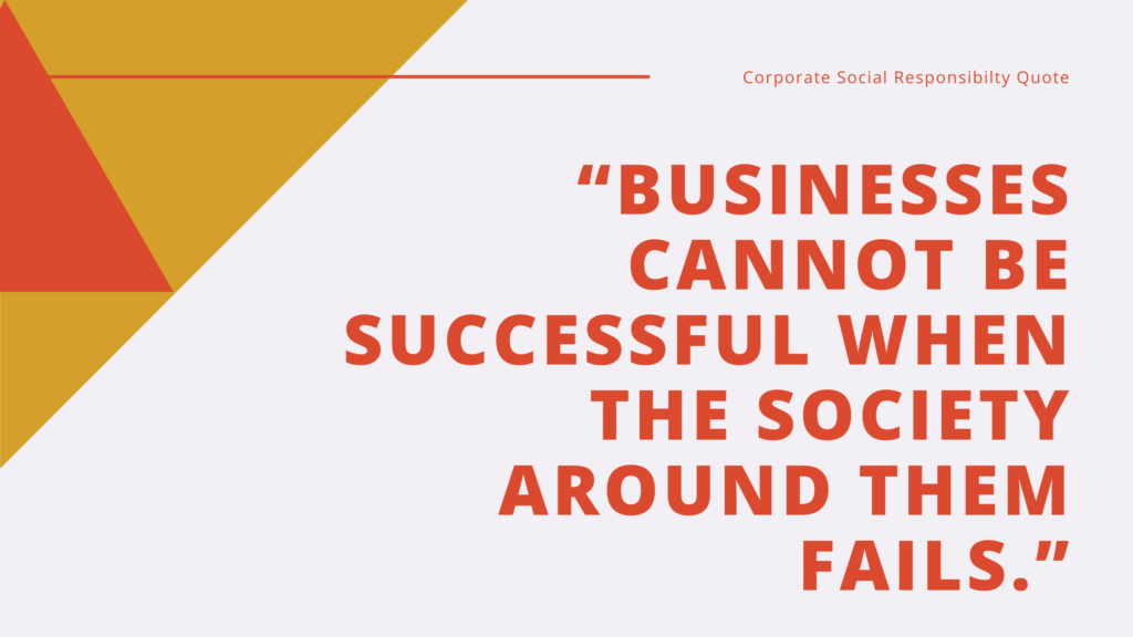 Corporate Social Responsibilty CSR Quote