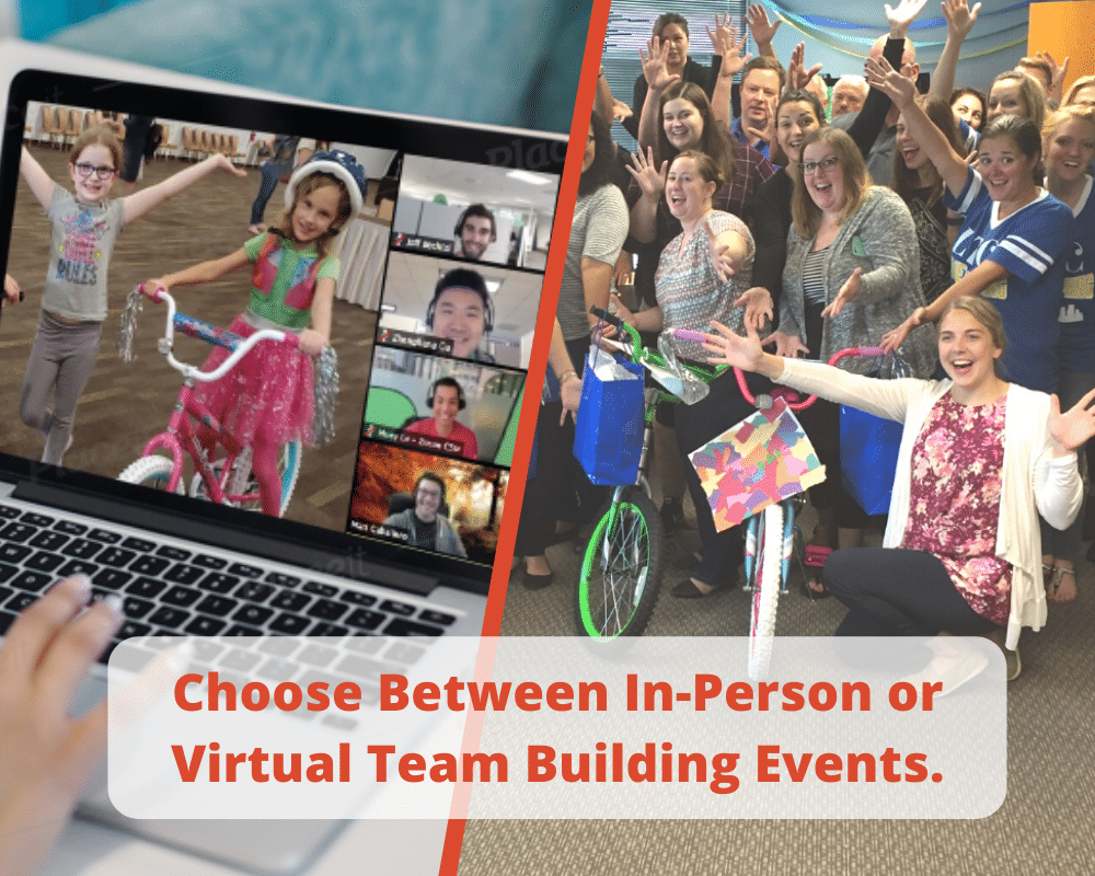 Choose Between in-Person or Virtual Team Building Events