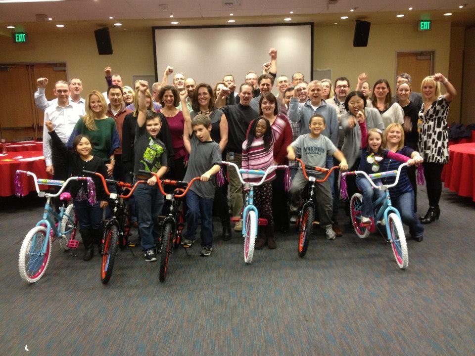 Microsoft Build-A-Bike in Seattle Washington