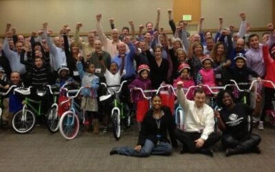 Trident Seafoods Holds Build A Bike in Seattle, Washington