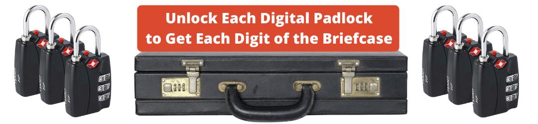 Unlock Each Digital Padlock