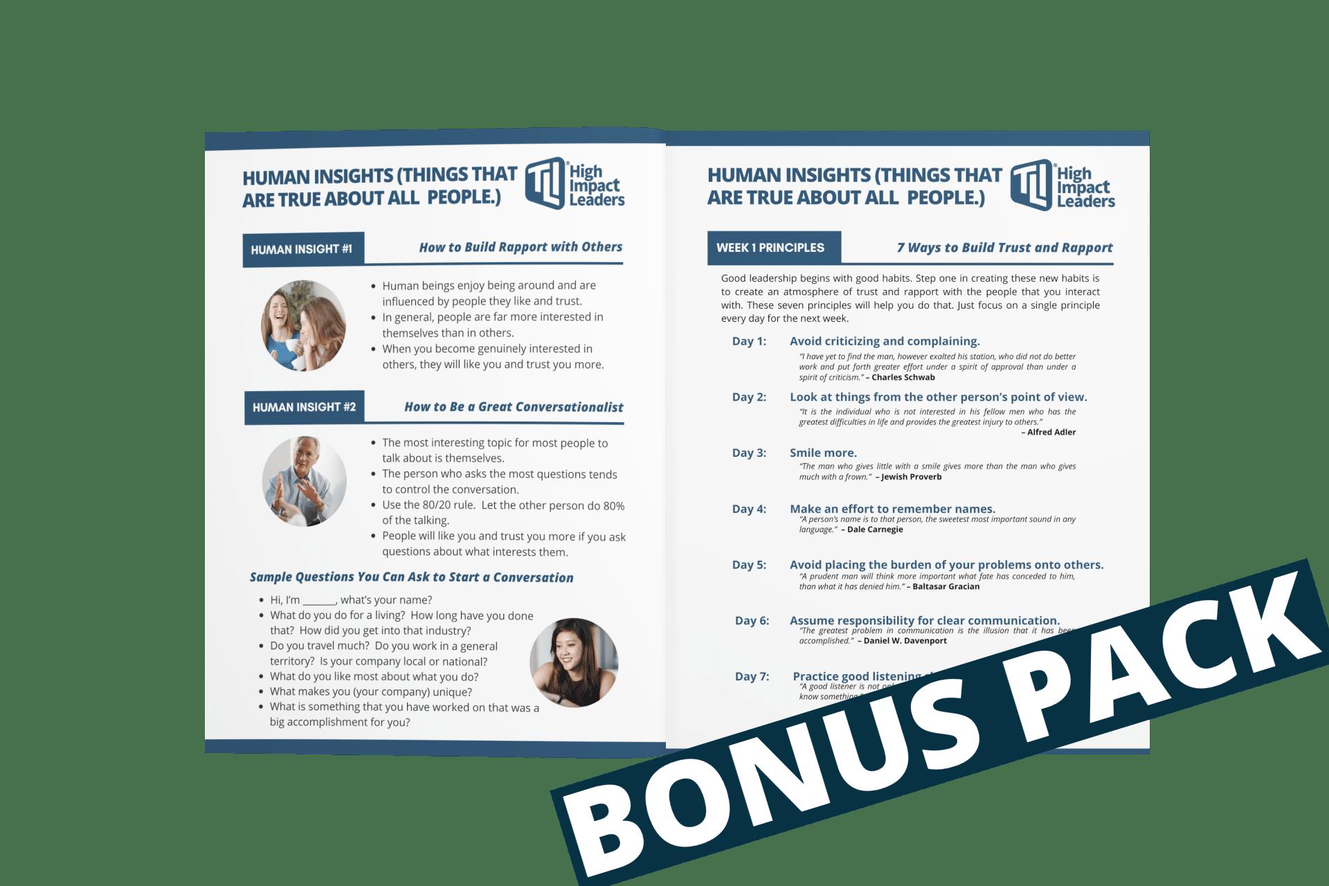High Impact Leaders Bonus Pack
